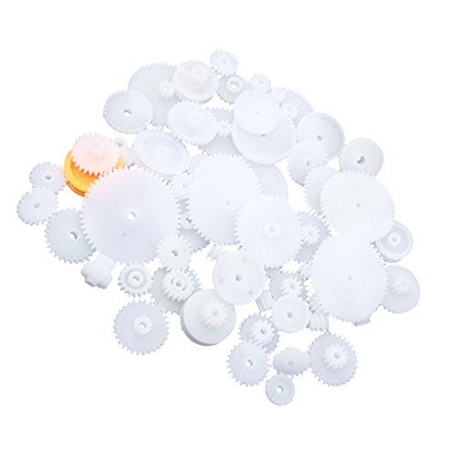 MagiDeal 64Pieces Satz Sortierte Kunststoff zahnräder Plastic Gears Zahn Raeder Modul