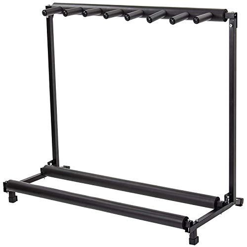 Display4top Multi Gitaar Stand 7 Houder Opvouwbare Universele Display Rack - Draagbare Zwarte Gitaar Houder.Padding voor Klassieke Akoestische, Electrische, Bass Gitaar