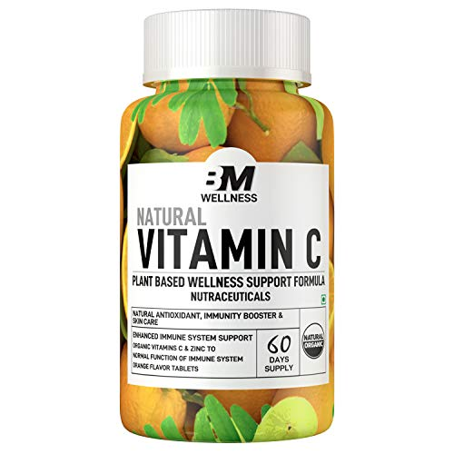 Bigmuscles Nutrition Natural Vitamin C & Zinc Tablets, Immunity,...