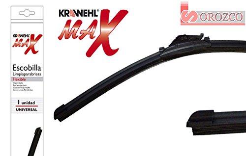 Escobilla limpiaparabrisas KRAWEHL MAX FLEX con adaptadores (55 cm. 22