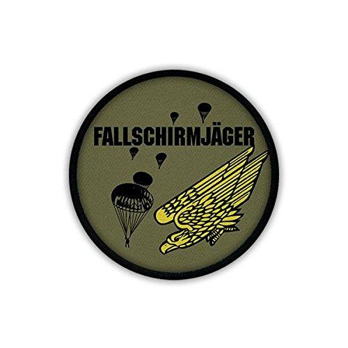 Copytec Patch/Aufnäher - Fallschirmjäger Luftlandetruppen Fallschirmsprung Deutscher Falli Bundeswehr grüner Teufel Kompanie stürzender Adler Rundkappe Militär Abzeichen Wappen #19559