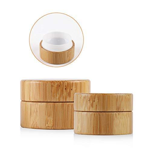 5ML Bambou Bouteille Crème Pot Art Ongles Masque Crème Rechargeable Vide Cosmétique Maquillage Récipient Bouteille pour Voyage