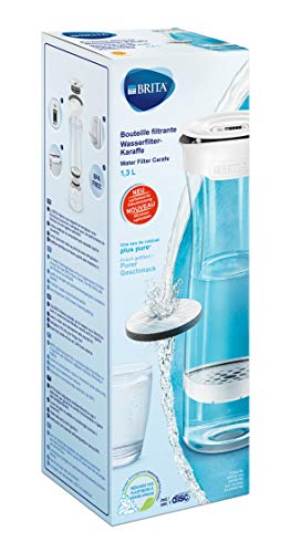 BRITA Botella con Filtro 1.3 l, Color Blanco/Grafito