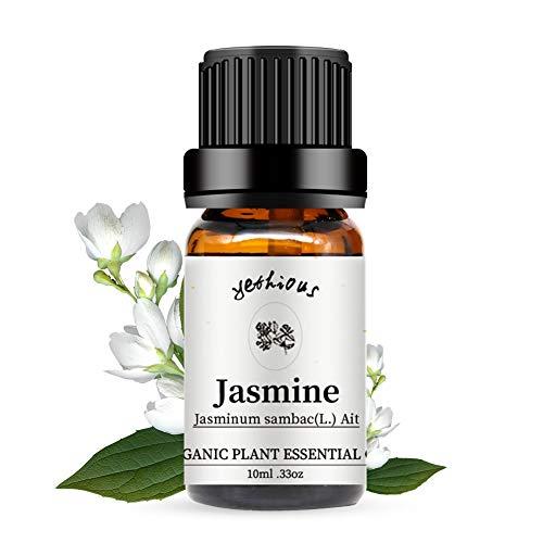 yethious ジャスミン エッセンシャルオイル 100% ピュア精油 ナチュラル ディフューザー用 マッサージ用 アロマ テラピー(10ml)