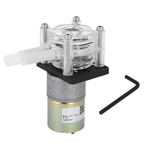 Bomba dosificadora peristáltica DC 12V / 24V Bomba peristáltica DIY autocebante con cabezal transparente para PC, para lavadoras y lavavajillas, suministro de tinta, extracción de helados(12V)