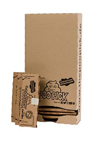 PooPick hondenzakje, biologisch afbreekbaar, duurzaam en zonder plastic, van stevig gerecycled papier, contactloze uitwerping, S - bis 10 kg Hundegewicht