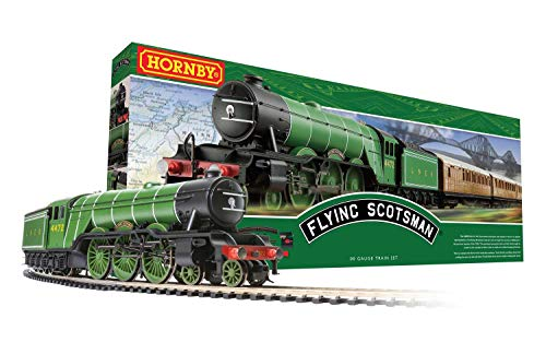 Hornby The Flying Scotsman A1Class #4472 OO Electric Model Train Set HO Track with US Power Supply R1255M