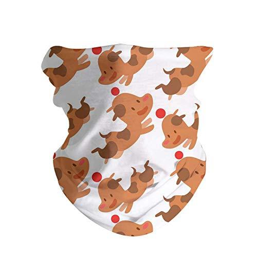 HAOZI - Pañuelo mágico multifunción para equitación al aire libre, tubo bandanas sin costuras, diadema de camuflaje elástico con resistencia a los rayos UV, color Perros Personajes, tamaño 50 CM x 25 CM