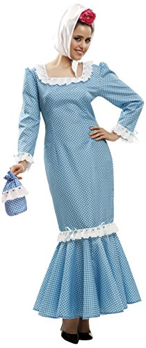 My Other Me - Disfraz de madrileña para mujer, talla XL, color azul (Viving Costumes MOM02322)