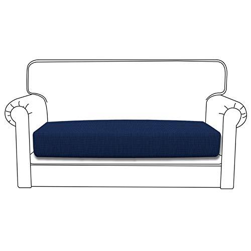 Easy-Going Stretch Cushion Cover Sofa Cushion Furniture Protector Sofa Seat Sofa slipcover Sofa Cover Soft Flexibility with Elastic Bottom(loveseat Cushion,Navy)
