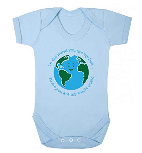 Flox Creative Baby Vest Dad You are My Whole World T-shirt pour bébé - Bleu - XXL
