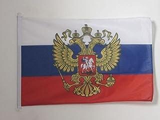 Rusland vlag met adelaar 150x90cm - Russische vlag 90 x 150 cm Buitenspeciaal - Vlaggen - AZ VLAG