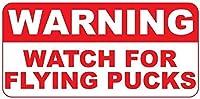 フライングパックのレトロなビンテージスタイルの金属看板の警告時計