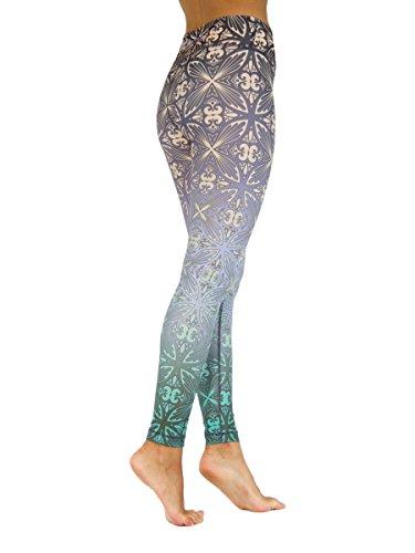 Niyama Hochwertige und Einzigartige Yogahosen Frauen - Haltbar und Strapazierfähige Womens Leggings für Yoga, Pilates und Fitness. (M, Tahitian Days)
