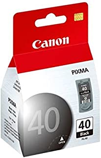 Canon PG-40 0615B002 iP1200 iP2600 MP140 MP210 MP450 Ink Cartridge (Black) in Retail Packaging