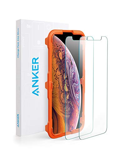【改善版】【2枚セット / 専用フレーム付属】Anker GlassGuard iPhone 11 Pro Max/XS Max用 強化ガラス液晶保護フィルム 【3D Touch対応 / 硬度9H / 簡単貼付】