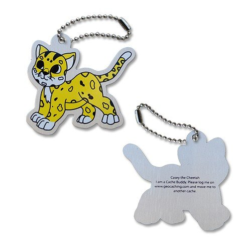 OAK Casey The Cheetah Travel Tag Travel Tag Geocaching traveltag Trackable