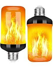 StillCool Vlam Gloeilamp, E27 Lamp Flikkerend Lichteffect 5W LED Buitenlicht Flikkerend Licht voor Huis Tuin Bar Feest Bruiloft Restaurant Valentijnsdag Decoratie (2 stuks)