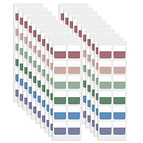 SAVITA 240 Unidades Marcadores Adhesivos Pastel, Grabables Pestañas Adhesivas Autoadhesivo Reutilizable Notas Adhesivas Índices para Índice de Lectura, Notas de Libros (Colores Mezclados)