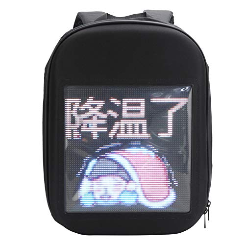 LED Computer Backpack, Cool Advertising Display Bag Backpack, Portable LED Light Text Pictures Animation Display Backpack