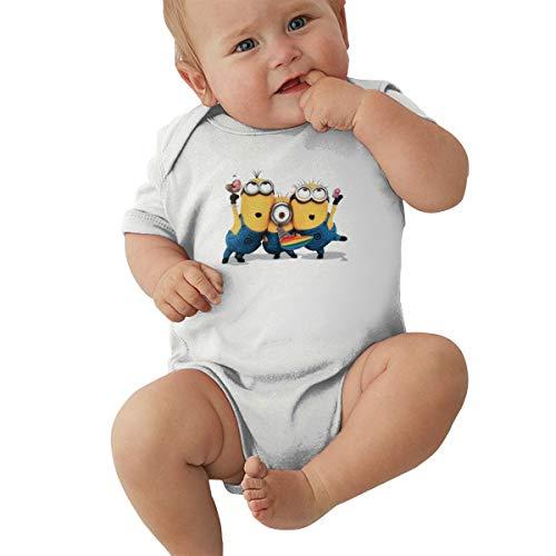 GHYGTY Mini-Ons Baby-Strampler für Neugeborene, superweiche Baumwolle, kurzärmelig, Jersey, Schwarz Gr. 12 Monate, weiß