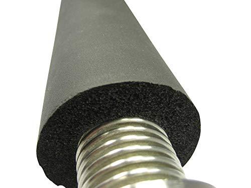Rohrisolierung für Edelstahlwellrohr, 13mm Dämmung, für DN12 bis DN32, Preis je lfm - hohe Qualität gem. DIN1988 / Teil 7, DN-Größe:DN25-11/4 Zoll