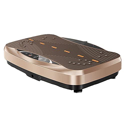 Fnho Plataforma Vibratoria Ultra Slim,Plataforma Vibración Motor Silencioso,Máquina de Adelgazamiento de pie, máquina de batido de Fitness-Oro