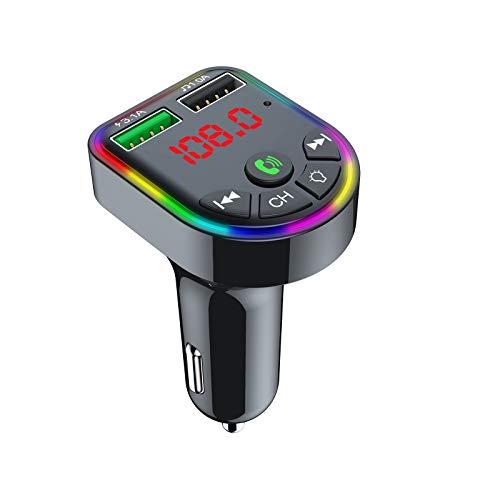 A/H Empfänger Radio Adapter mit Kompaktes Design, Auto Radio Transmitter mit Ausschaltknopf & Freisprecheinrichtung, Adapter Freisprecheinrichtung Car Kit Auto Radio Bluetooth (Schwarz)