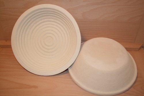 Gärkorb Brotform Holzschliff für 1,0 kg rund Brote mit Rillenmuster incl. Profirezepte
