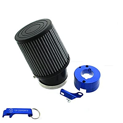 TC-Motor Air Filter + Adapter For 11Hp 13Hp Honda GX340 GX390 Clone Engine Go Kart Predator 301cc 420cc Golf Carts Mud Boats Racing Lawnmowers Minibikes Powered Paragliders GX270s 13/15hp Chinese OHVs