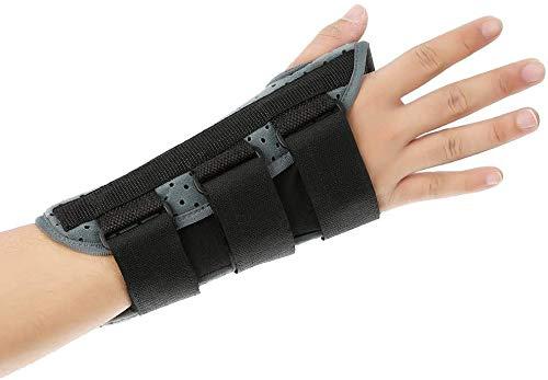 Férula de apoyo para la muñeca, férula de pulgar ajustable y transpirable Cinturón protector de mano para esguince de la articulación de la muñeca, órtesis de muñeca del túnel carpiano(L-Izquierda)