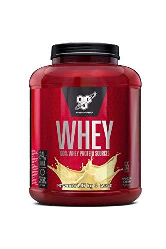 BSN DNA Whey Eiweißpulver (24g Eiweiß pro Portion, Protein Shake von BSN) vanilla cream, 55 Portionen, 1,87kg
