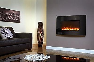 Designer Celsi Fire - XD Curved Black Glass