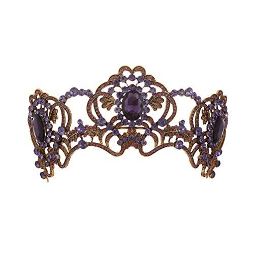 Diadem, Barock, Violett, große Braut, Königin, Prinzessin, Haar-Accessoires