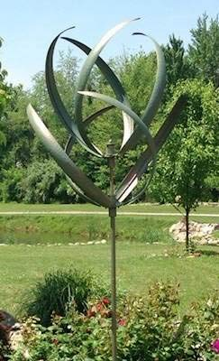 CHEYENNE VERDE SPINNER or KINETIC WIND SCULPTURE by Marshall Gardens