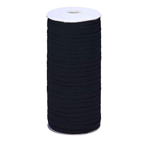 200 Yard Elastic Band, Shed Protector Sewing Elastic Band/Rope/Cord/String for Handmade Making (Black-3mm)