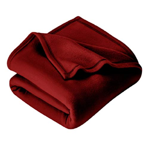 IVAZA New Glacial Microfiber All Season Polar Soft Warm Fleece Blanket for Home (Single Bed 60x90 Inches Set of 1 Maroon)