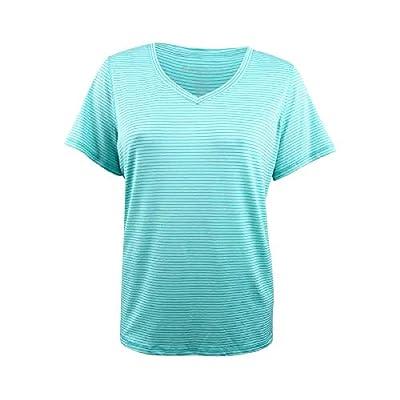 Ideology Striped V-Neck T-Shirt, Laguna XL