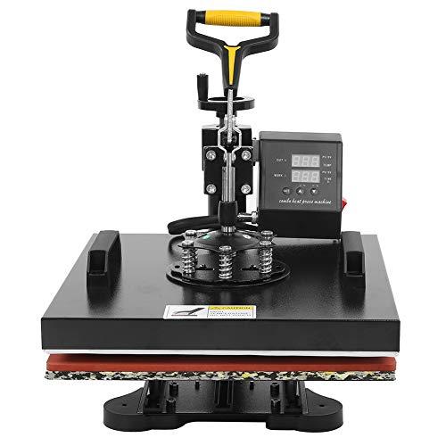 Máquina de prensa de calor 5 en 1 38 * 38cm Máquina de prensa de calor Impresora de transferencia...