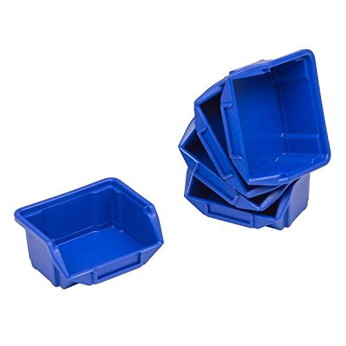 60 cajas de almacenaje apilables Cajas de almacenaje apilables Cajas de almacenamiento...