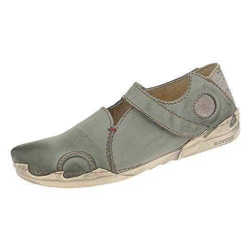 Rovers Damen Schuhe Leder Schnürhalbschuhe Grau 54002 (42 EU)