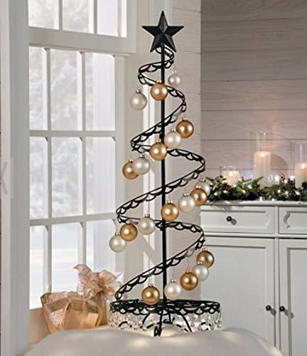 36' Spiral Ornament Christmas Tree (Black)