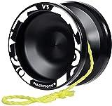 Yoyo V3, alliage métallique en métal Yoyo pour enfants débutant + substitut ne répondant pas de responsabilité + sac + outil de retrait + 5 chaînes de Yoyo yoyo professionnel ( Color : V3 Black )