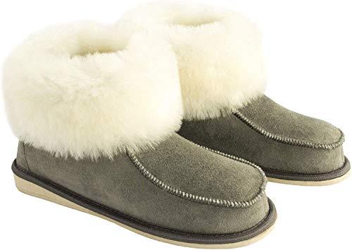 Yeti & Sons ,  Damen Mokassin Stiefel, Grau - grau/weiß - Größe: EU 38