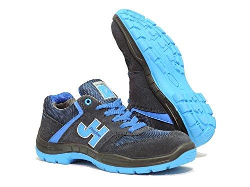 J  Hayber Works - Calzado de seguridad Casual sport Style S1P SRC MARINO - AZUL J Hayber