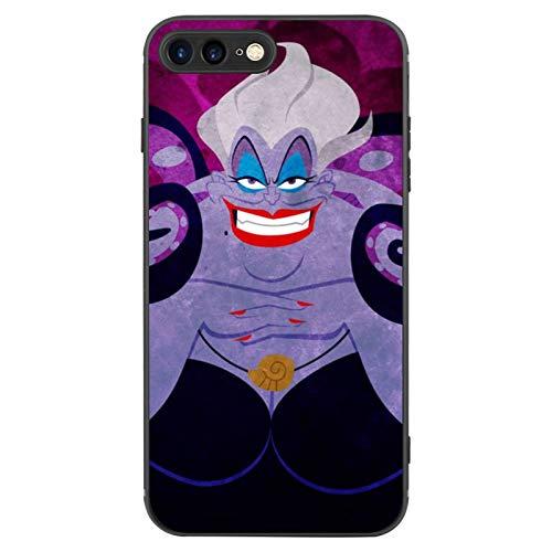 DISNEY COLLECTION Carcasa esmerilada para iPhone 7/8 Plus Villains Little Mermaid Ursula 6 TPU mate + PC a prueba de golpes, color negro