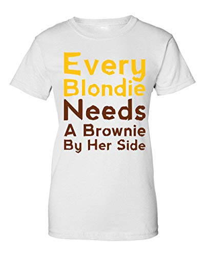 Every Blondie Needs A Brownie by Her Side Damen T-Shirt XX-Large