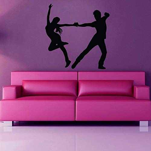 Dansen vinyl wandtattoo danseres meisjes en man dansen muurtattoo turnhalle decoratie wooncultuur slaapkamer