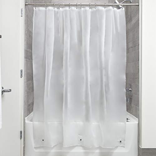 iDesign EVA Liner Futter für Duschvorhang, 183,0 cm x 183,0 cm großer Vorhang aus schimmelresistentem EVA mit zwölf Ösen, matt