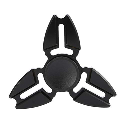 Boquite Fidget Spinner Toy, 3 Corners Hands Spinner Alloy Aluminium Stress Relief Toy Gyroscope pour Adultes(Noir)